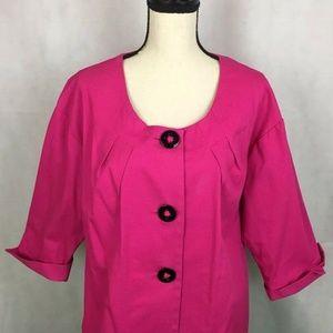 APOSTROPHE Womens 18 Pink Lined Jacket Blazer Coat